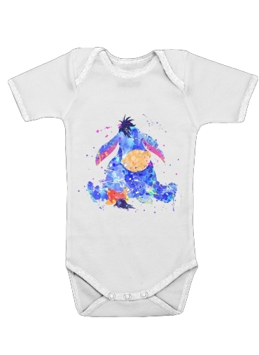 Eyeore Water color style for Baby short sleeve onesies