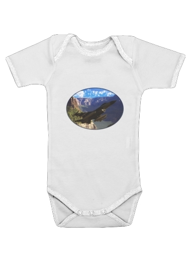 F-16 Fighting Falcon for Baby short sleeve onesies