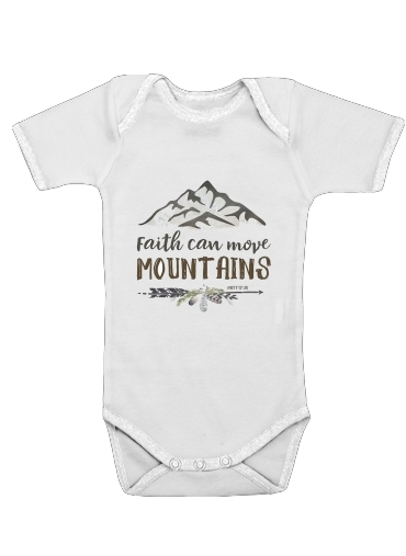 Onesies Baby Faith can move montains Matt 17v20 Bible Blessed Art