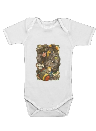 Fallout Painting Nuka Coca for Baby short sleeve onesies