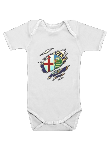 Fan Driver Alpha Romeo Griffe Art for Baby short sleeve onesies