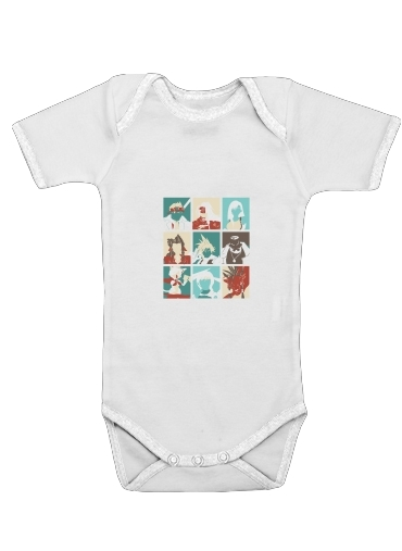 Final Pop Art for Baby short sleeve onesies