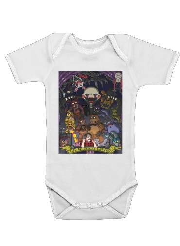 Five nights at freddys for Baby short sleeve onesies