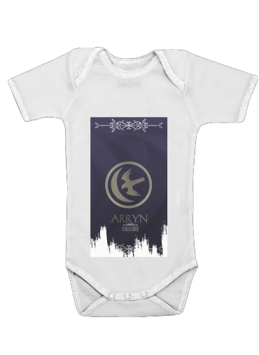Flag House Arryn for Baby short sleeve onesies