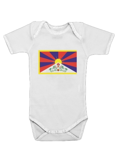 Flag Of Tibet for Baby short sleeve onesies