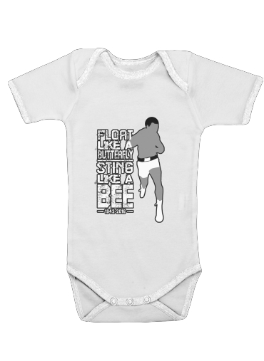 Float like a butterfly Sting like a bee for Baby short sleeve onesies