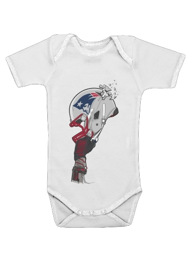 Onesies Baby Football Helmets New England