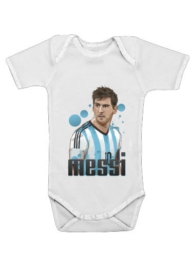 Football Legends: Lionel Messi World Cup 2014 for Baby short sleeve onesies