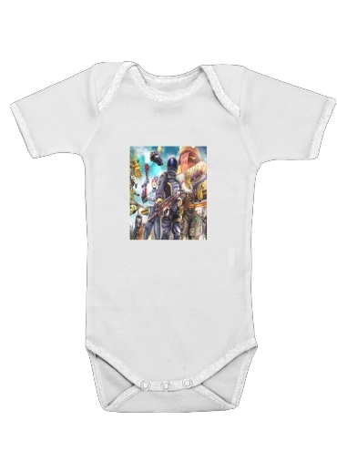 Fortnite Characters with Guns for Baby short sleeve onesies