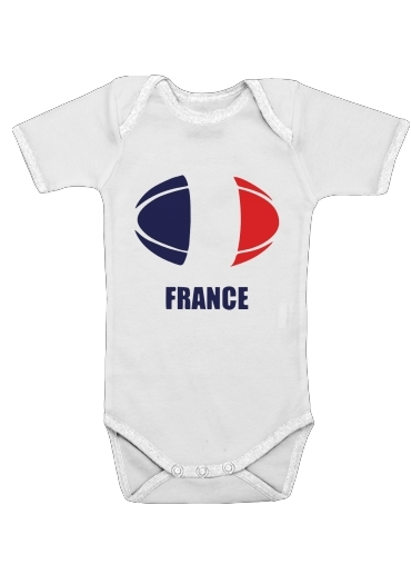 france Rugby for Baby short sleeve onesies