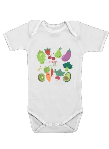 Onesies Baby Fruits and veggies