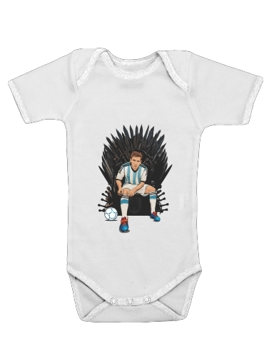 Game of Thrones: King Lionel Messi - House Catalunya for Baby short sleeve onesies