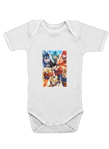 Goku Ultra Instinct for Baby short sleeve onesies