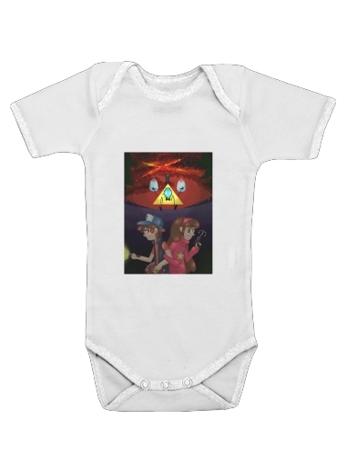 Gravity Falls Monster bill cipher Wheel for Baby short sleeve onesies