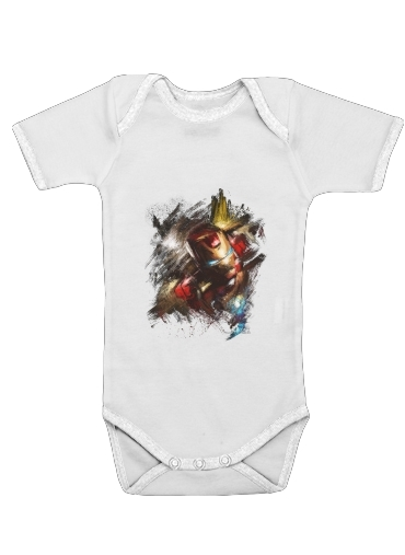 Grunge Ironman for Baby short sleeve onesies