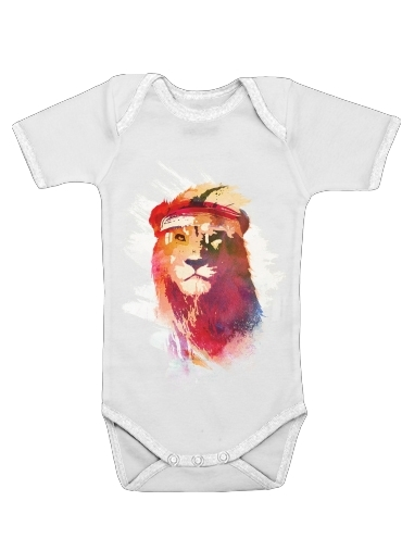 Gym Lion for Baby short sleeve onesies