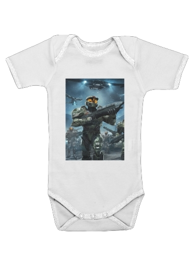 Onesies Baby Halo War Game