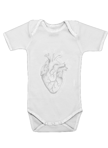 heart II for Baby short sleeve onesies