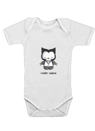 Hello Wolvie for Baby short sleeve onesies