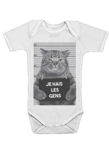 Onesies Baby I hate people Cat Jail