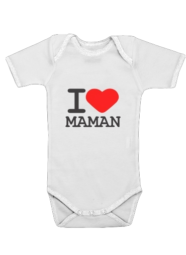 I love Maman for Baby short sleeve onesies