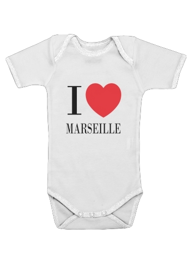 I love Marseille for Baby short sleeve onesies