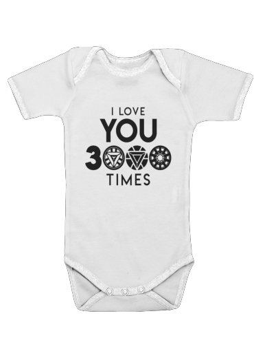 I Love You 3000 Iron Man Tribute for Baby short sleeve onesies