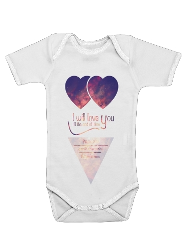 I will love you for Baby short sleeve onesies