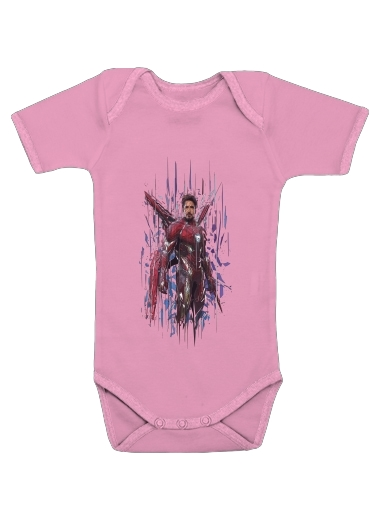 Iron poly for Baby short sleeve onesies