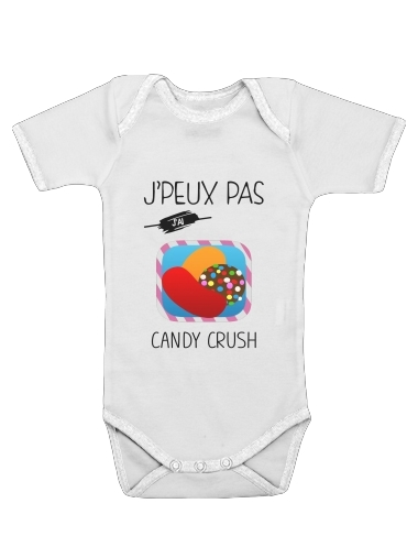 Je peux pas jai candy crush for Baby short sleeve onesies