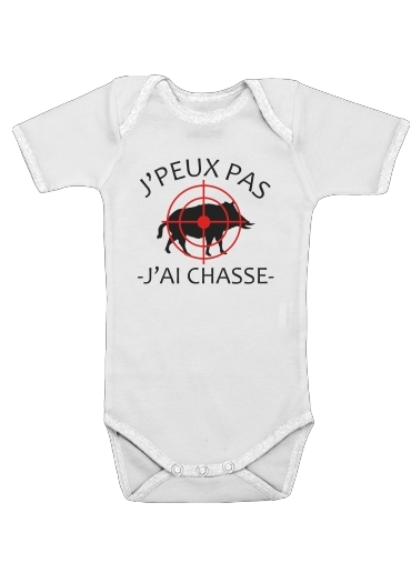 Je peux pas jai chasse for Baby short sleeve onesies