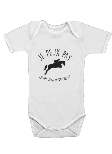 Je peux pas jai equitation for Baby short sleeve onesies