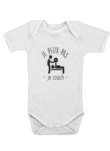 Je peux pas je coach for Baby short sleeve onesies