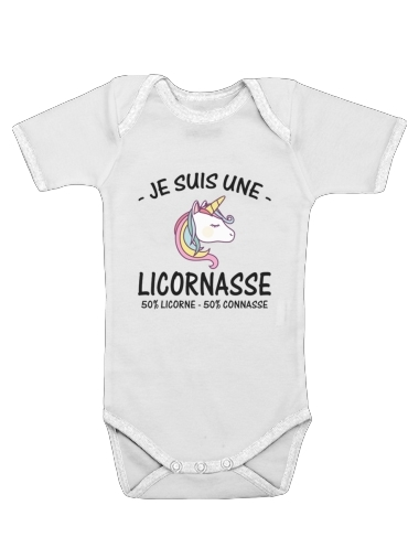 Je suis une licornasse for Baby short sleeve onesies