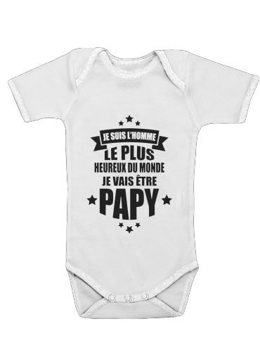 Onesies Baby Je vais etre Papy