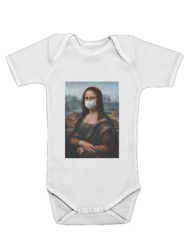 Onesies Baby Joconde Mona Lisa Masque