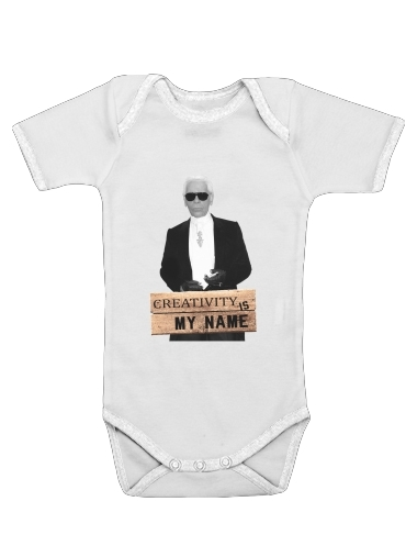 Karl Lagerfeld Creativity is my name for Baby short sleeve onesies