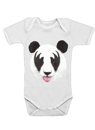 Kiss of a Panda for Baby short sleeve onesies