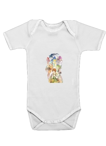 Les Enfants de la baleine chantant sur le sable for Baby short sleeve onesies