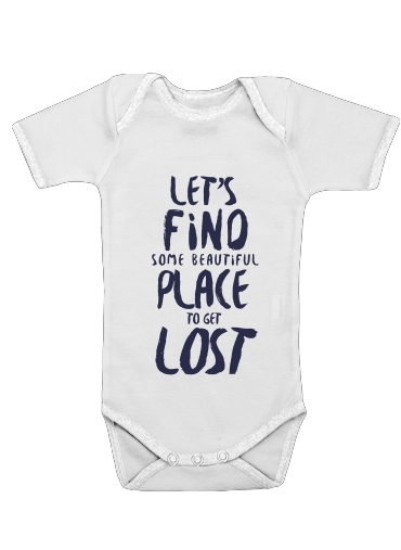 Let's find some beautiful place for Baby short sleeve onesies