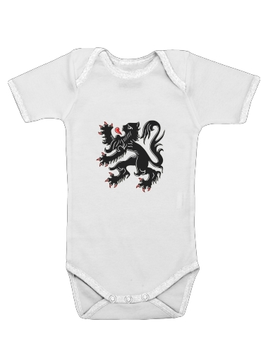 Lion des flandres for Baby short sleeve onesies