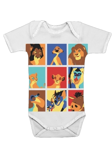 Lion pop for Baby short sleeve onesies