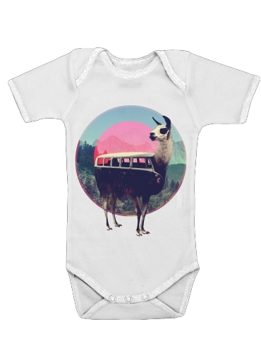 Llama for Baby short sleeve onesies