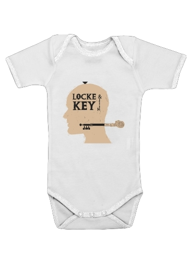 Onesies Baby Locke Key Head Art