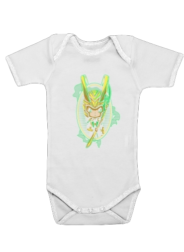 Loki Portrait for Baby short sleeve onesies
