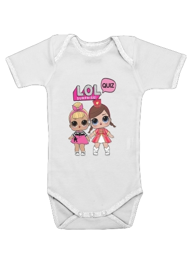 Lol Surprise Dolls Cartoon for Baby short sleeve onesies