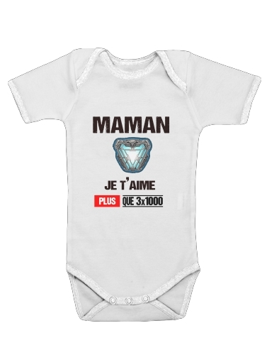 Maman je taime plus que 3x1000 for Baby short sleeve onesies