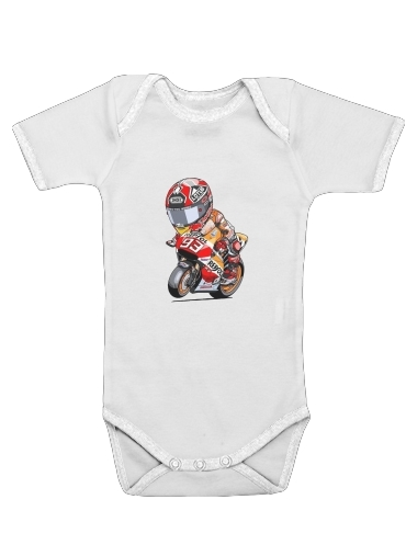 Marc marquez 93 Fan honda for Baby short sleeve onesies