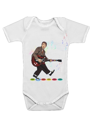 Onesies Baby Marty McFly plays Guitar Hero