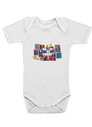Mashup GTA and House of Cards for Baby short sleeve onesies